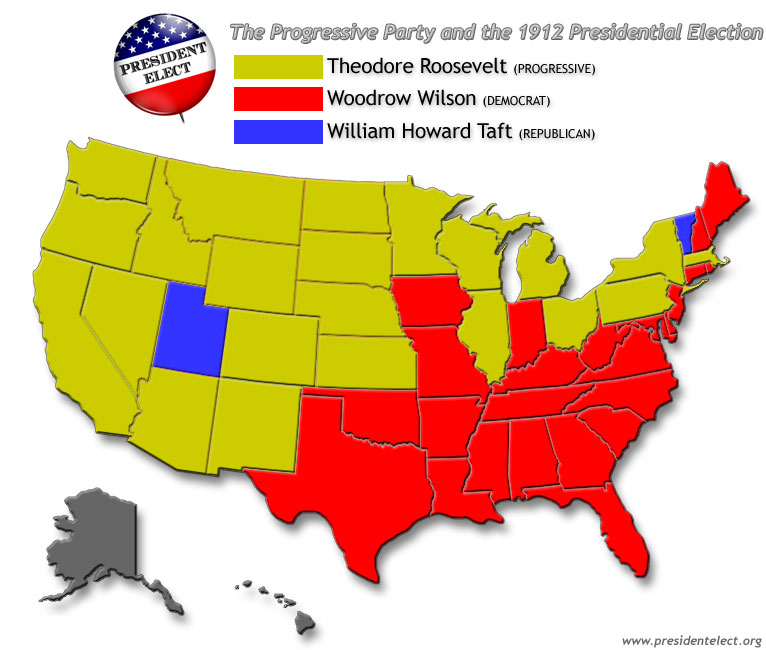 1912 election Progressives did not come only in the republican flavor thomas woodrow wilson also saw the need for change born in staunton, virginia, wilson served as president of princeton university and governor of new jersey he combined a southern background with northern sensibilities attacking the triple.